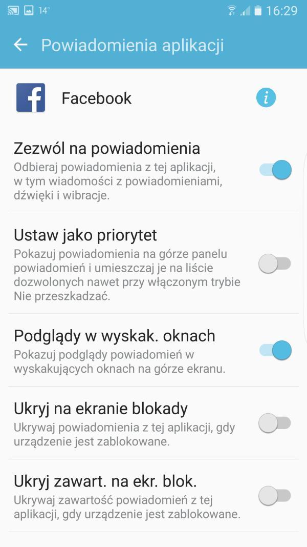 prywatne powiadomienia android