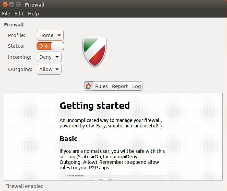 Upewnij się, że masz zaporę ogniową w Linux