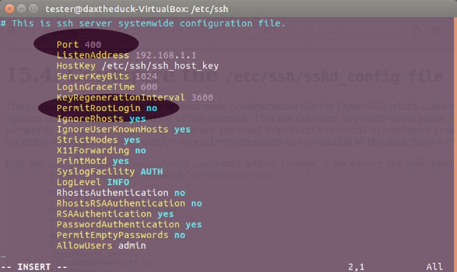 Zablokuj ustawienia zdalnego połączenia SSH w Linux